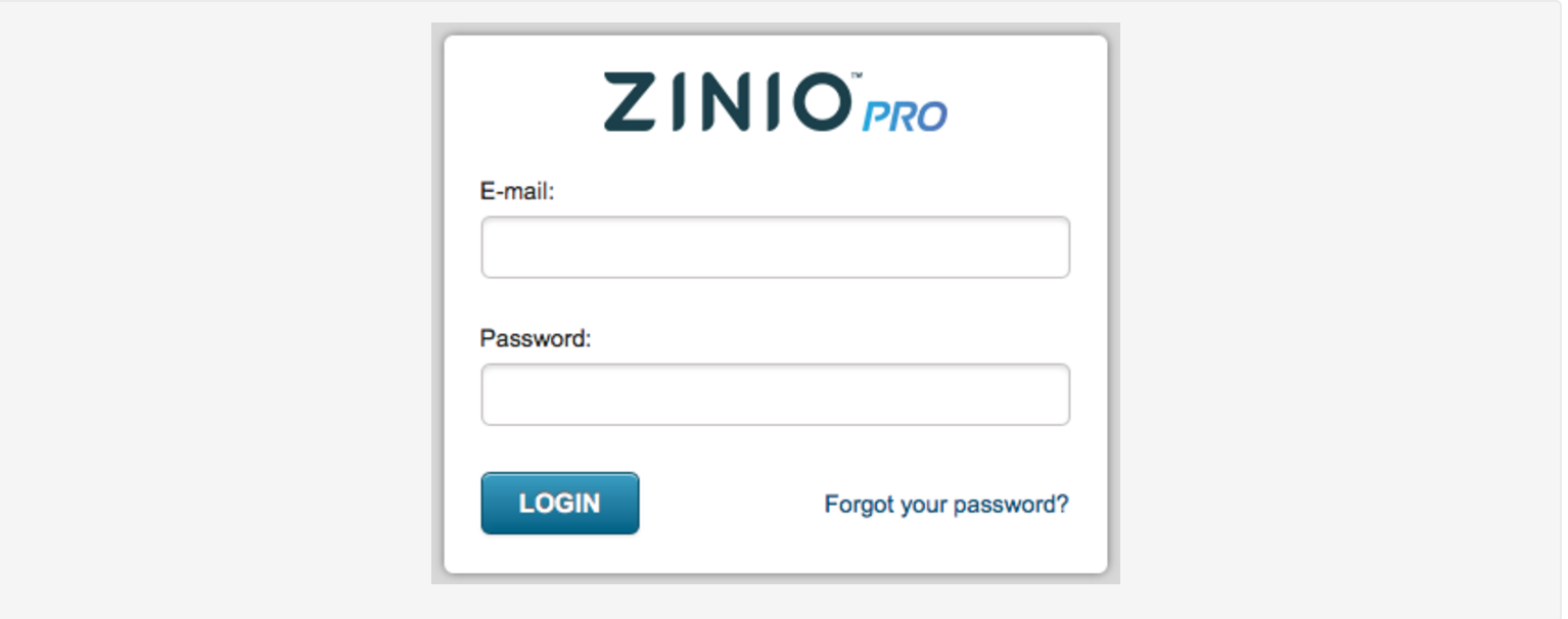 How to Sign in to the Zinio Pro Publishing Platform – Zinio Pro
